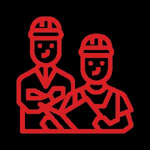 значок двух работников